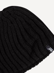 SockShop Heat Holders Black Beanie Hat