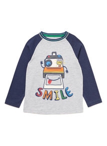 Multicoloured Smile Long Sleeved T-Shirt (9 months-6 years)