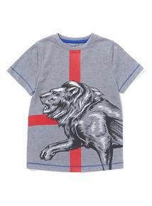 Grey Lion T-Shirt (3-14 years)
