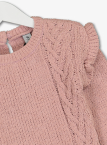 Pink Cable Detail Jumper (9 months- 6 years)