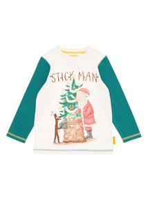 Multicoloured Christmas Stickman Tee (9 months - 5 years)
