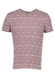 Brown Leaf Print T-Shirt