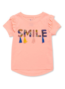 Pink Smile Sequin Top (3-14 years)
