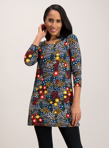Multicoloured Floral Tunic