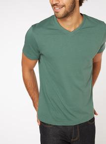 Green V Neck T-Shirt