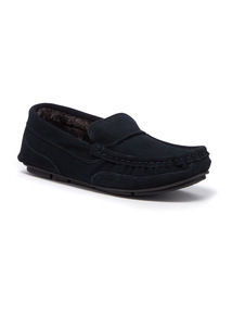 Suede Butted Seam Moccasins