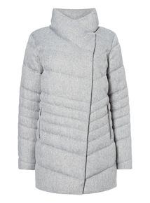 Grey Knitted Marl Coat