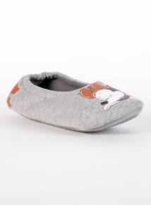 Disney Minnie Mouse Grey & Peach Slippers With Grip Sole