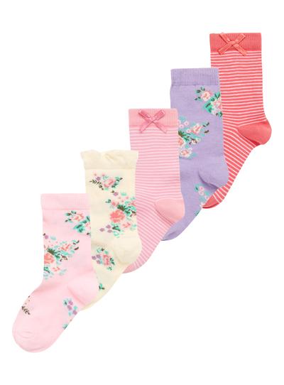 Kids Girls Multicoloured Garden Socks 5 Pack | Tu clothing