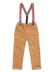 Stone Chinos With Braces (9 months-6 years)