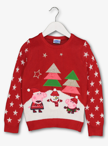 Peppa Pig Red Christmas Jumper (9 months-6 years)