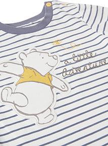 Multicoloured Striped Disney Winnie the Pooh Bodysuit (Newborn-24 months)