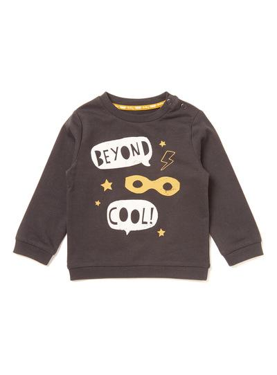 Grey Slogan Sweatshirt (0-24 months)