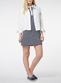 White Coastal Linen Jacket