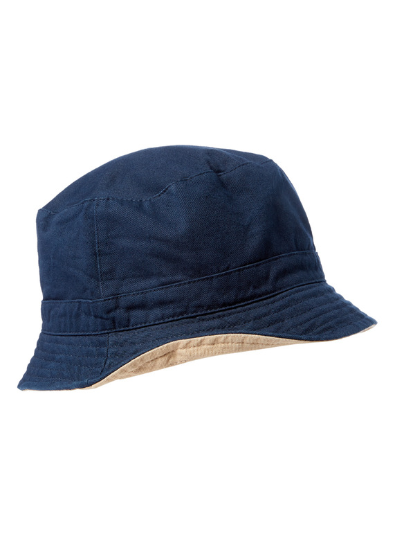 13b9f96ab85 Menswear Navy and Stone Reversible Bucket Hat