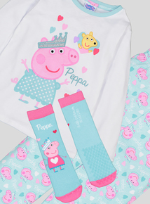 Peppa Pig Fairy Multicoloured Long-Sleeved Pyjamas With Matching Socks (1-6 Years)