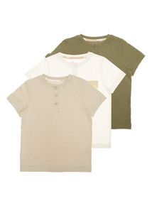 Boys Multicoloured Grandad Tees 3 Pack (9 months-6 years)