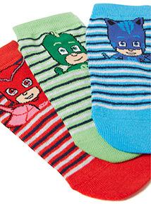 3 Pack Multicoloured Pj Masks Trainer Socks (3 infant - 3.5 adult)