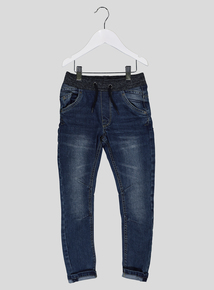 Blue Denim Tapered Stretch Jeans (3-12 years)