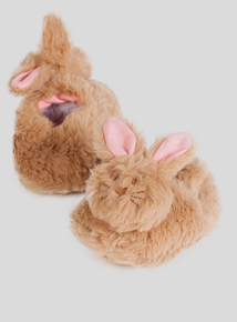 Fluffy Bunny Slippers (0 - 18 months)