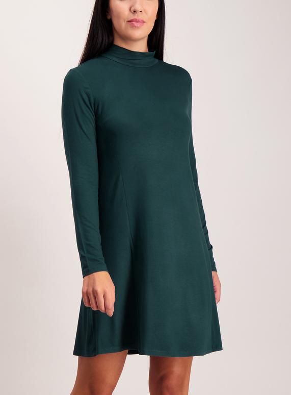 Teal Jersey Swing Dress