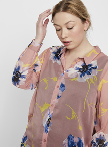 cfbef791b562d JUNAROSE Pink Floral Long Shirt
