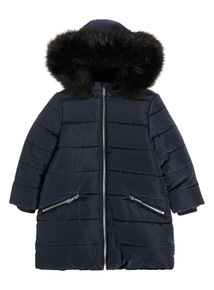 Navy Quilted Jacket (3-16 years)