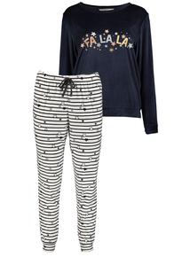 Navy Christmas 'Fa La La' Pyjamas