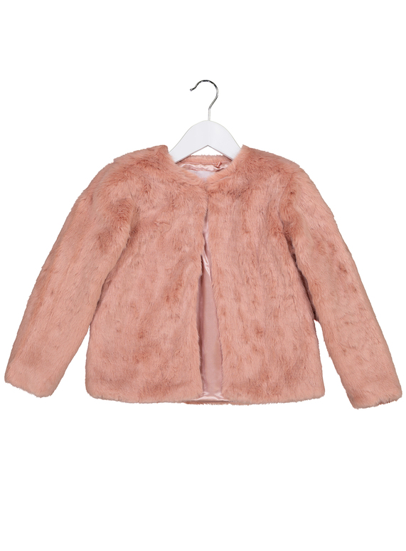 f938d753476cd Kids Pink Faux Fur Coat (3 - 14 years)