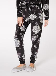 Floral Print Fleece Pyjama Bottoms
