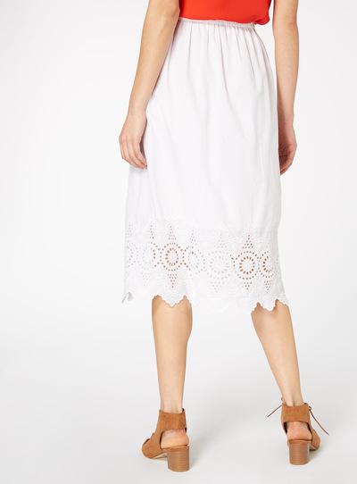 White Schiffly Skirt