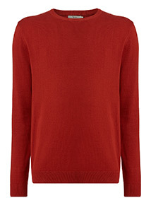 Burgundy Crew Neck Jumper