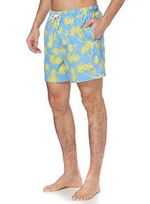Blue Palm Tree Swim Shorts