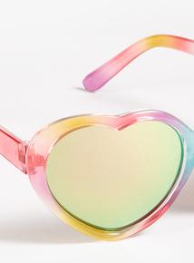 4520006b57 Multicoloured Rainbow Heart Sunglasses (Small- Regular)