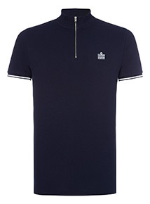 Admiral Navy Funnel Neck Polo