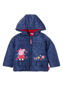 Navy Peppa Pig Puffa Coat (9 months-5 years)