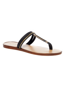 Bead Toe Post Sandals