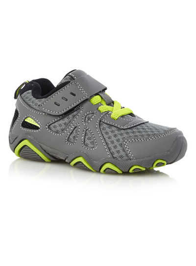 a9bce31835 Kids Boys Grey Mesh Trainers