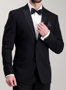 Online Exclusive Black Slim Fit Tuxedo Dinner Jacket