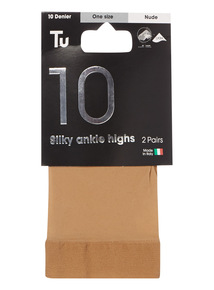Nude Silky Ankle Highs 2 Pack