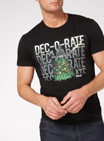 Black Christmas Doctor Who Tee