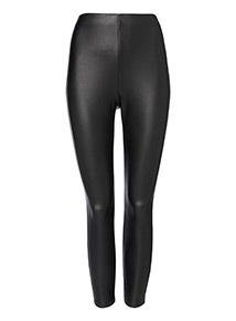 Black PU 4 Way Stretch Trousers