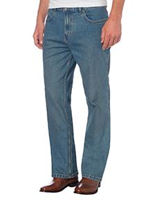 Light Wash Bootcut Stretch Denim Jeans