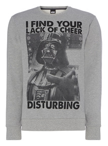 Grey Disney Star Wars Christmas Sweat
