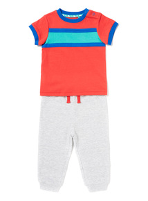Multicoloured Retro T-Shirt and Joggers Set (0-24 months)
