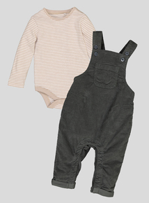 Green Dungaree 2 Piece Set (0-24 Months)