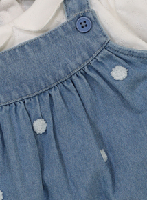Blue Pinny Dress & Bodysuit Set (0-24 Months)