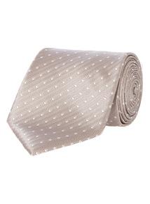 Stone Champagne Polka Dot Tie