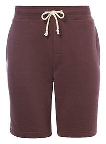 Burgundy Plain Jersey Shorts
