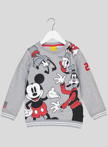 Disney Mickey Mouse & Friends Grey Sweatshirt (9 Months - 6 Years)